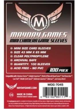 Протекторы Mayday Games Mini Chimera Game Sleeves 43 x 65 мм (100 шт)