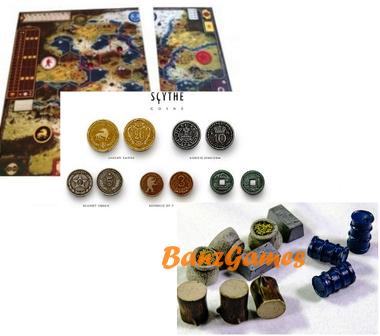 Комбо-набор: Серп. Металлические монеты, Расширение игрового поля, Реалистичные ресурсы